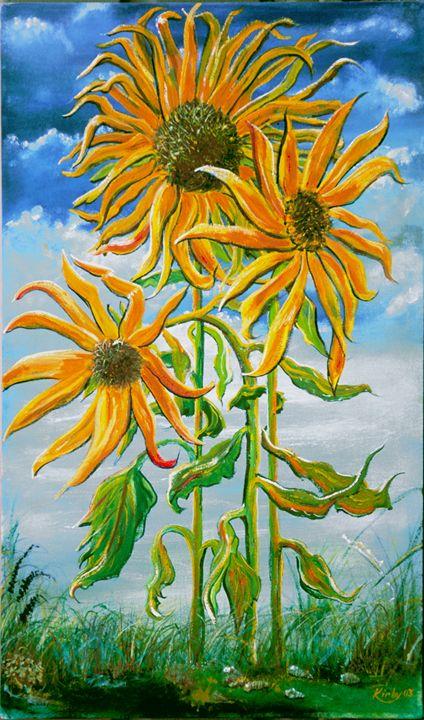 Three Sisters, CBS (Sunflowers) - Kirby Lewis, West Virginia Artist