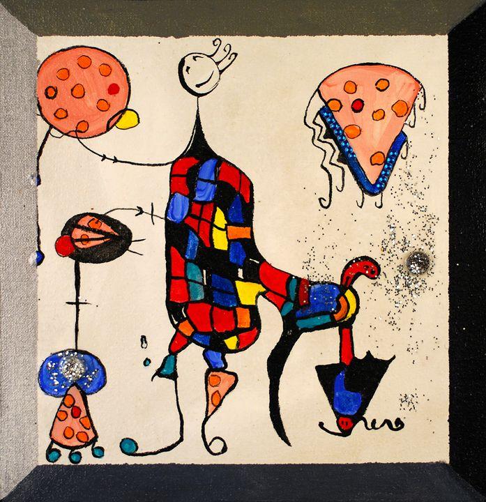 "Miro""ness"" Pizza - Kirby Lewis, West Virginia Artist"