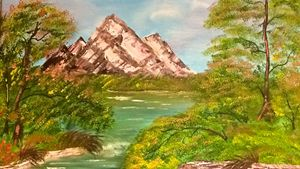 Mountain in the Spring