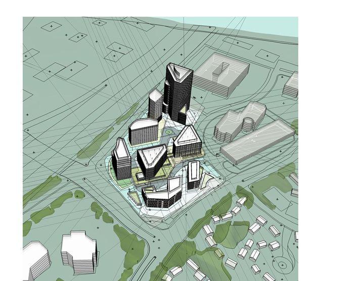 Transit Center Concept - NapkinSketch Art