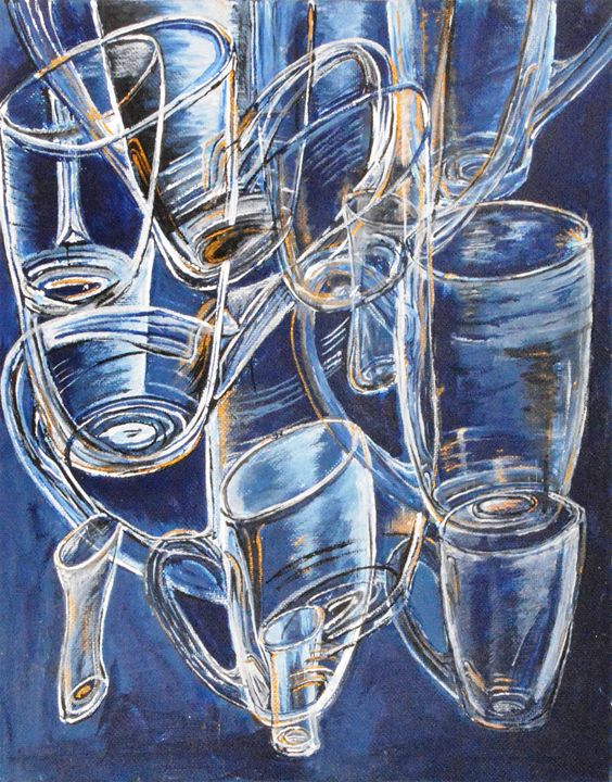 Glasses in Blue - Medea Ioseliani