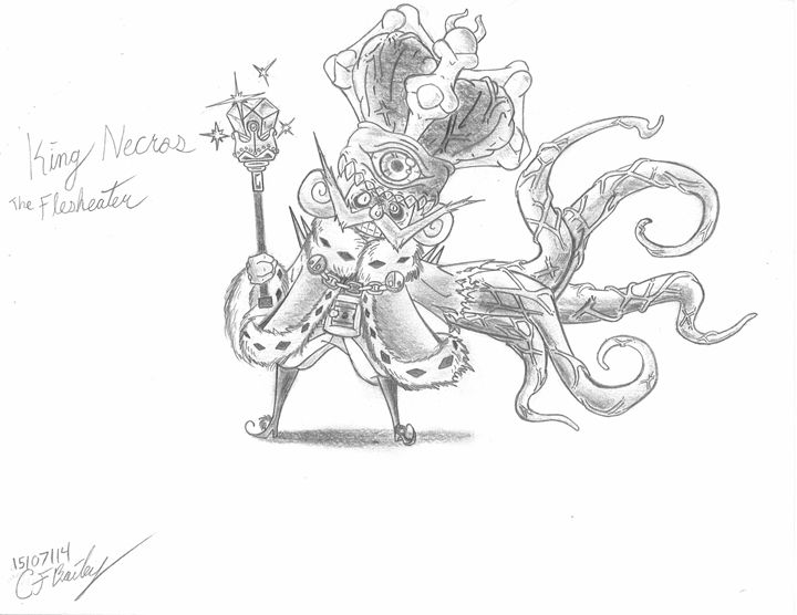 King Necros The Flesheater - Colin's Artwork