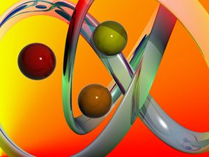 three balls background 3d abstract