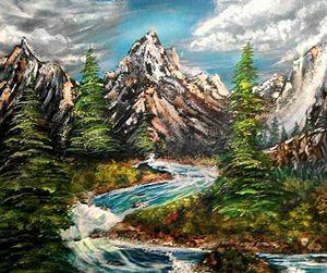 surreal river rapids