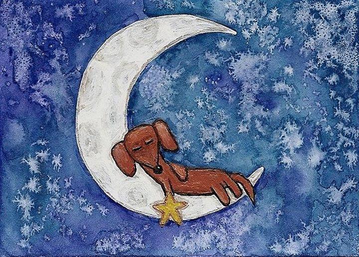 Dachshund on the Moon - PashaTP