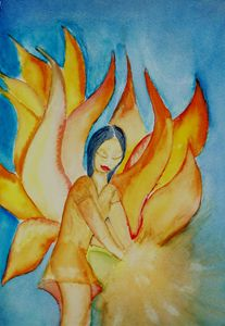 A Fairy Holding Light