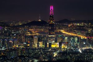 Seoul city at Night