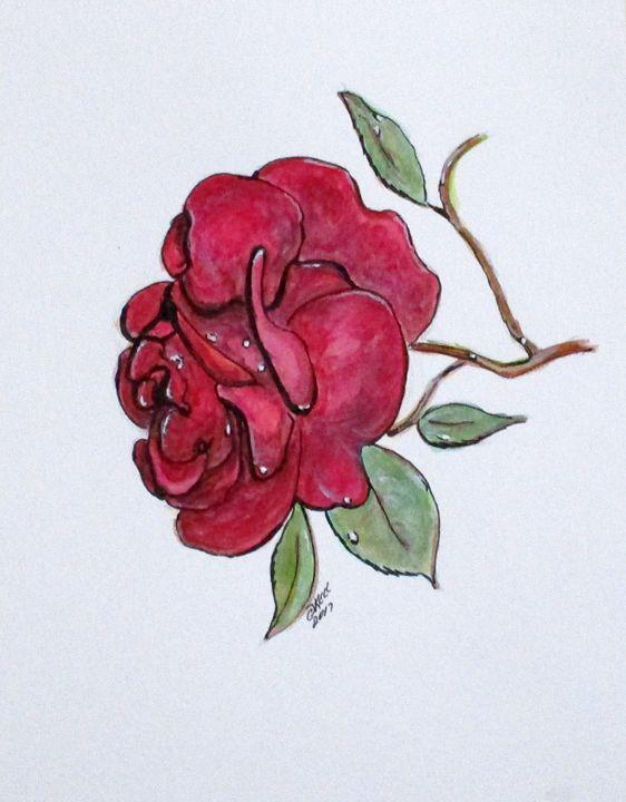 Wet Rose - CJ Kell Art Work