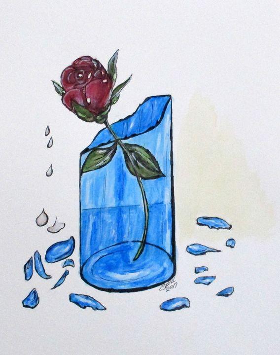 Broken Promise Rose - CJ Kell Art Work