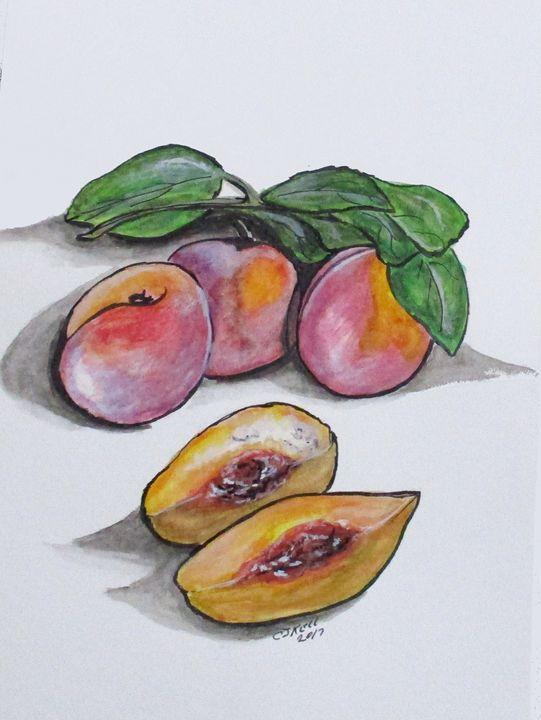 Fresh Peaches - CJ Kell Art Work