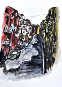 Naples City Street - CJ Kell Art Work