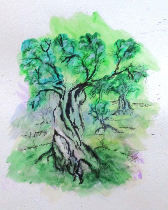 Olive Tree Grove - CJ Kell Art Work
