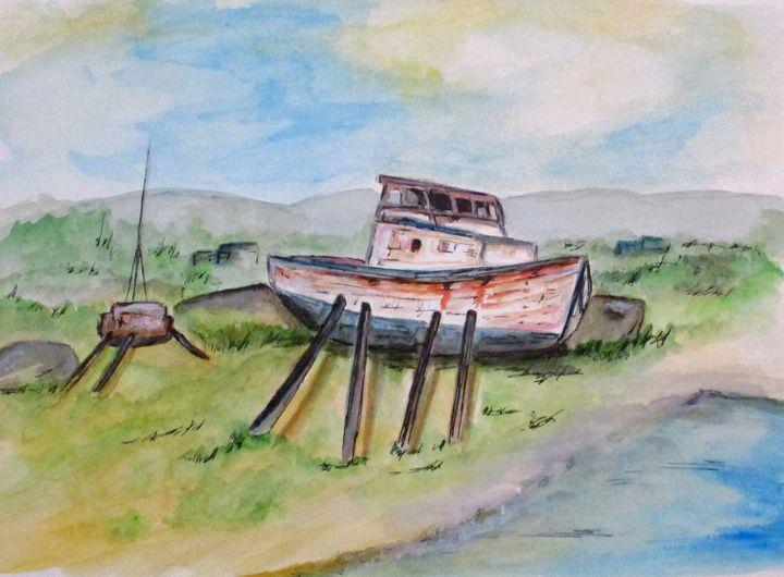 Abandoned Fishing Boat - CJ Kell Art Work