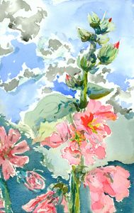 Hollyhocks #1