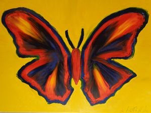Ninja Butterfly Finger Painted MKART