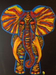 Rainbow Party Elephant