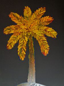 Vivid Palm Finger Painted