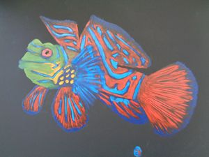 Mandarin Finger Painted Fish