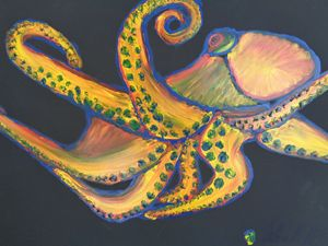 ColorPus Finger Painted Octopus