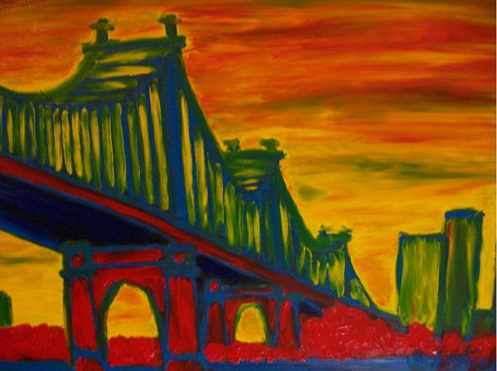 Bridge of Mystery Finger Painted - MKinnamanArt