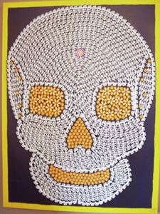 """Day of the Dead Skull 30""""x40""""x1 1/2"""""""