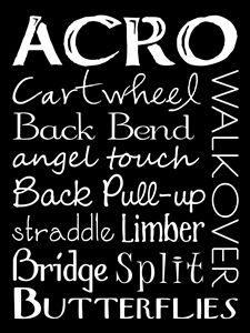 Acro Dance Subway Art Poster