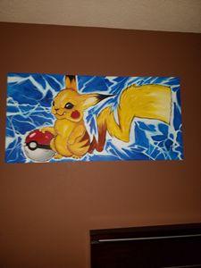 Pikachu playing Pokemon Go!