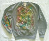 """Garden"", painting on sweatshirt"