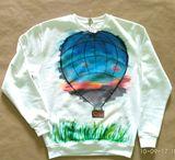 """Portal "", painting on sweatshirt"
