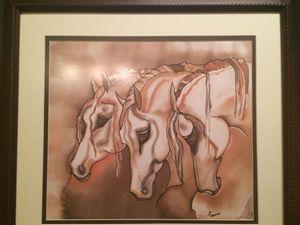 Arabian Horses - Silk Painting