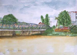 Iron Bridge over the Ping River.