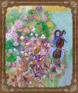 Cellist of the Garden .