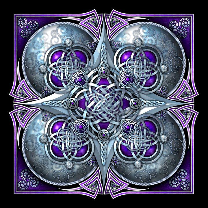 Purple Celtic Hearts Tapestry - Naumaddic Arts