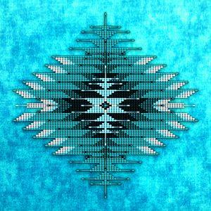 Native American Bead Peyote Tapestry