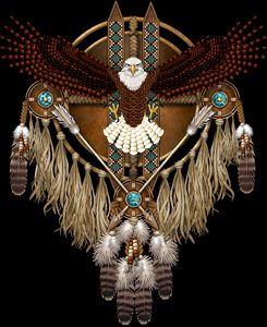 Bald Eagle Native American Mandala