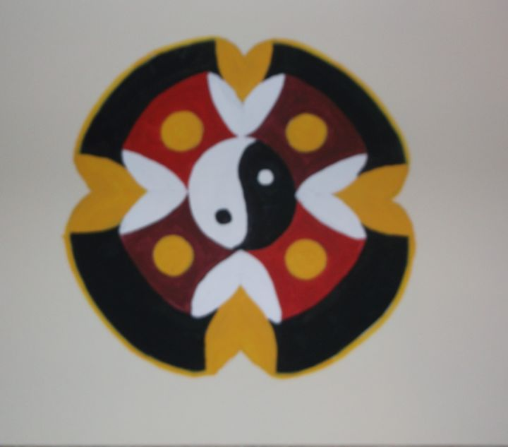 Mandala, Yellow and Red - Bhean Spiorad Art