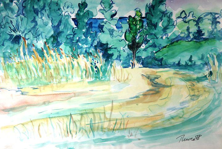 New Eyes - Day One (Watercolor) - Greg Thweatt