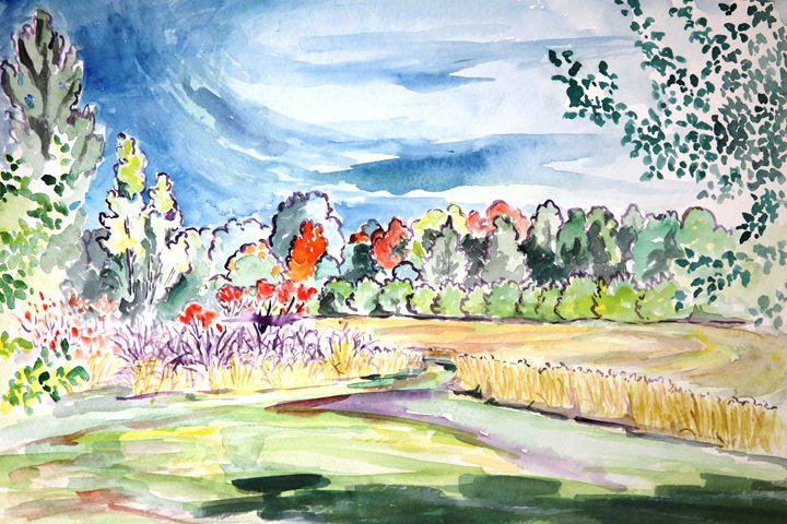 Hayfield and Foliage 1 - Greg Thweatt