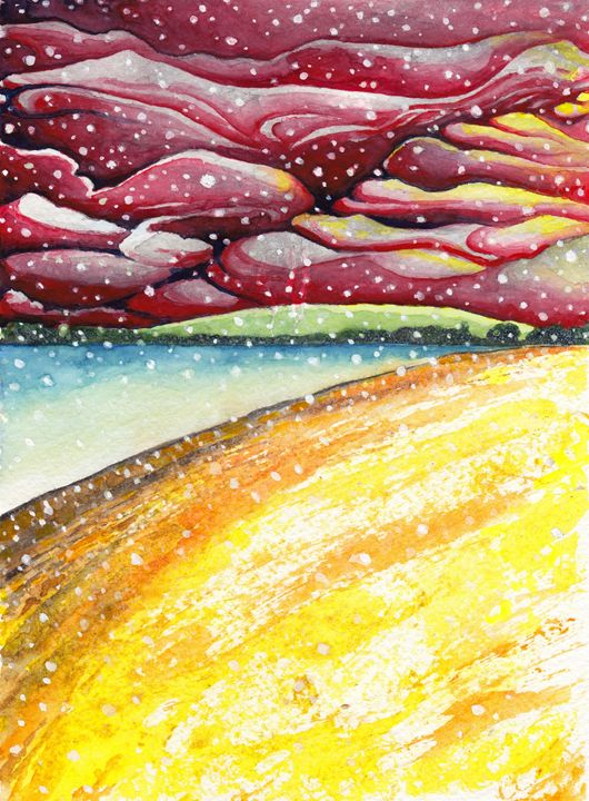 Snowfall – Riverbank at Twilight - Greg Thweatt