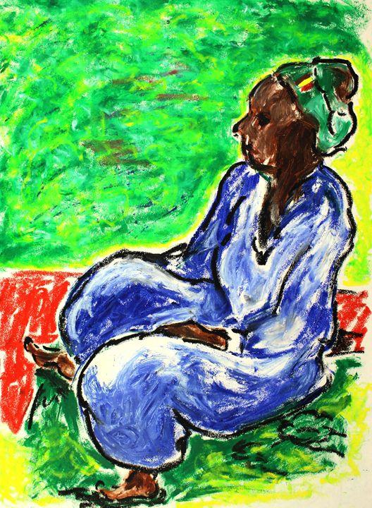 Woman Seated Inspired by Paul Gaugui - Greg Thweatt