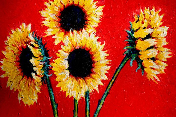 Still Life With Sunflowers - Detail - Greg Thweatt