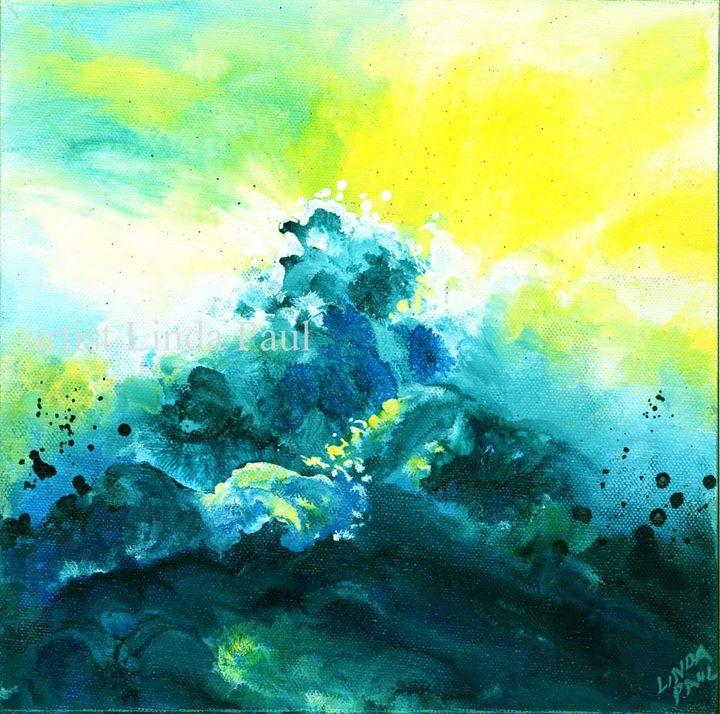 """Wave Energy 10 x 10"""" Acrylic - Linda Paul Studio"""