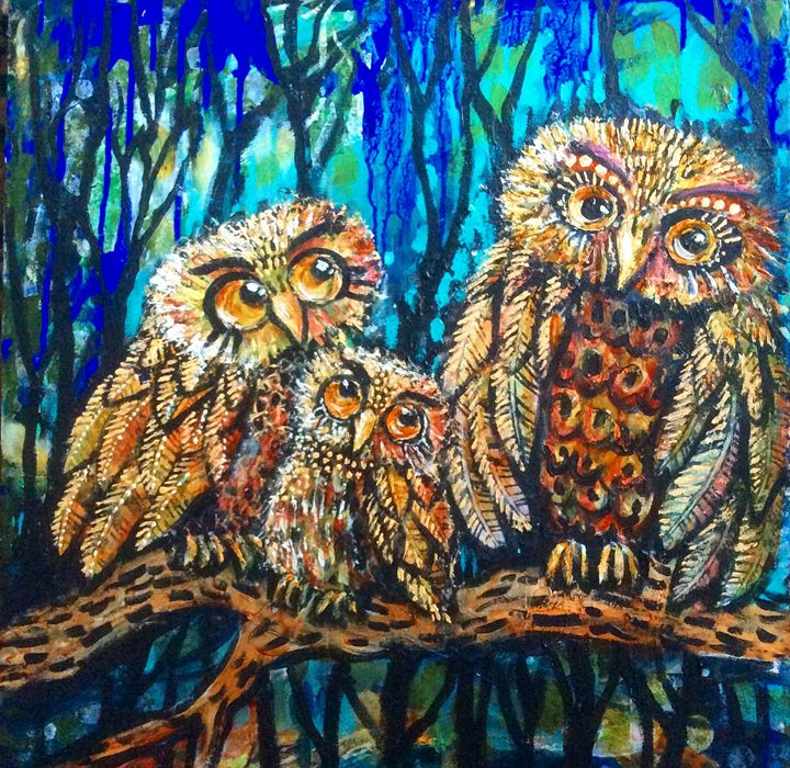 Three wise owls - Cheryle Bannon