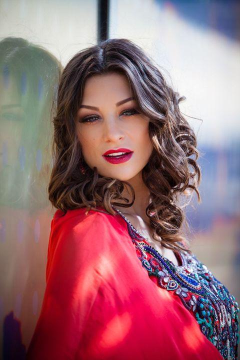 Cassandra In Moroccan dress - Cassandra McClure's Art