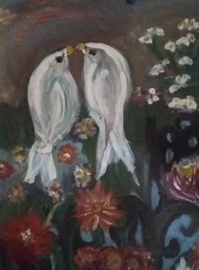 Birds of a feather - Modern with a twist painting and sketches