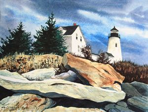 Pemaquid Lighthouse - Maine - Gardner Watercolors