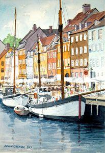 Copenhagen, Denmark - Nyhavn Canal