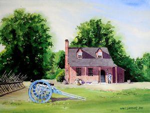 Colonial Williamsburg - Guardhouse - Gardner Watercolors