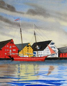Norway - Tromso Harbor - Gardner Watercolors