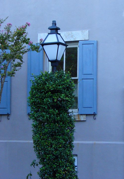 Lamp Post and Blue Evening - Rodney Williams